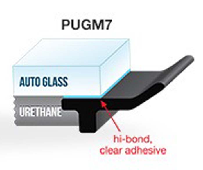 PUGM7 - 10mm Adhesive Underglass Moulding x 75' (22.86M)