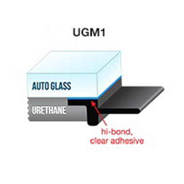 "UGM1 - Self-Adhesive Underglass Moulding Solid 5/16"" x 90' (8mm x 27.4M)"