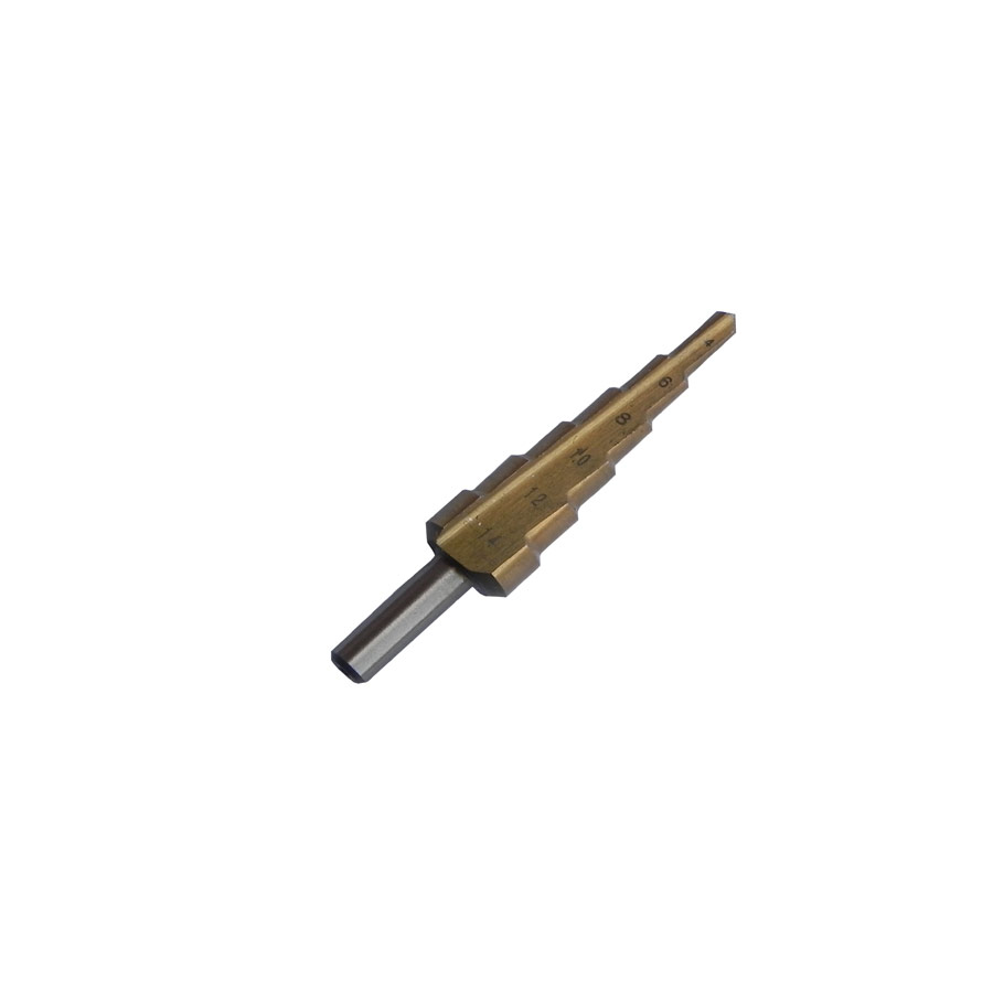 Step/Cone Drill Bit 4, 6, 8, 10, 12, 14mm Hole