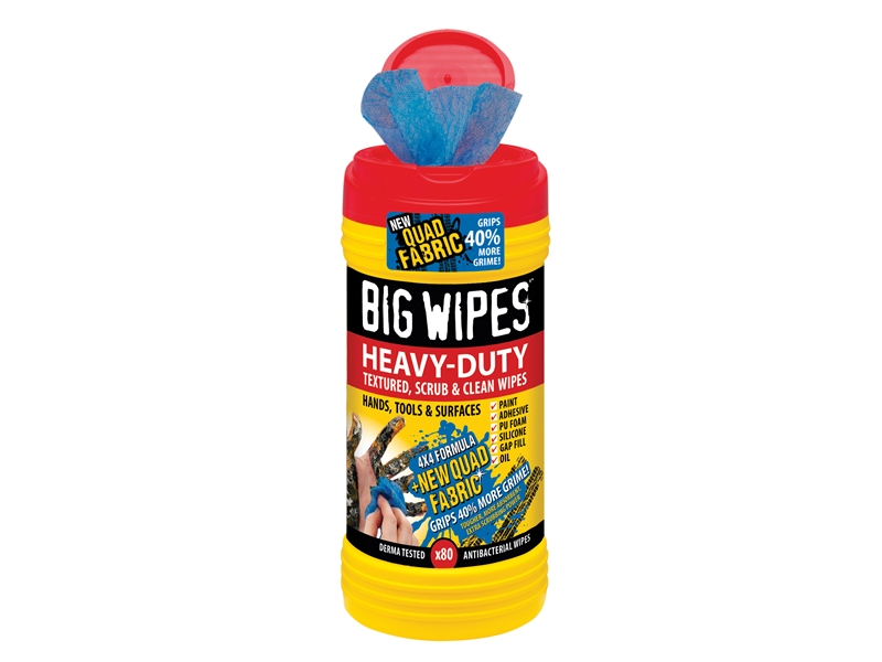 BIG WIPES Heavy Duty Hand Cleaner Wipes (approx: 80 sheets)
