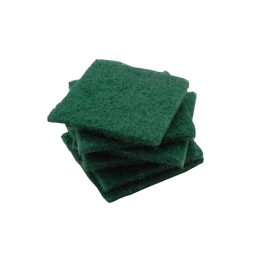 Pack of 6 Global Nylon Glass Scourers - Green