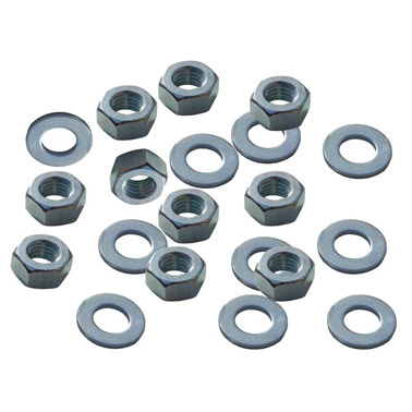 M8 Nuts & Washers x 10