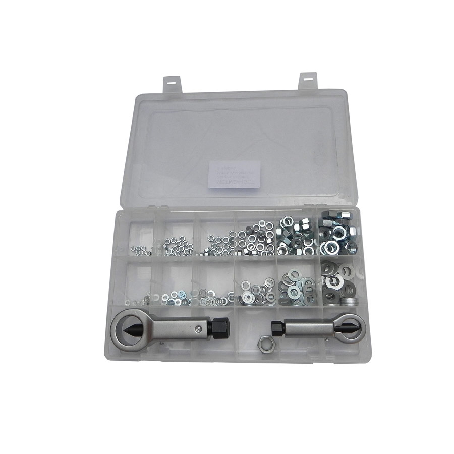 Global 242-pce assorted Nut & Washer Set & Nut Splitters
