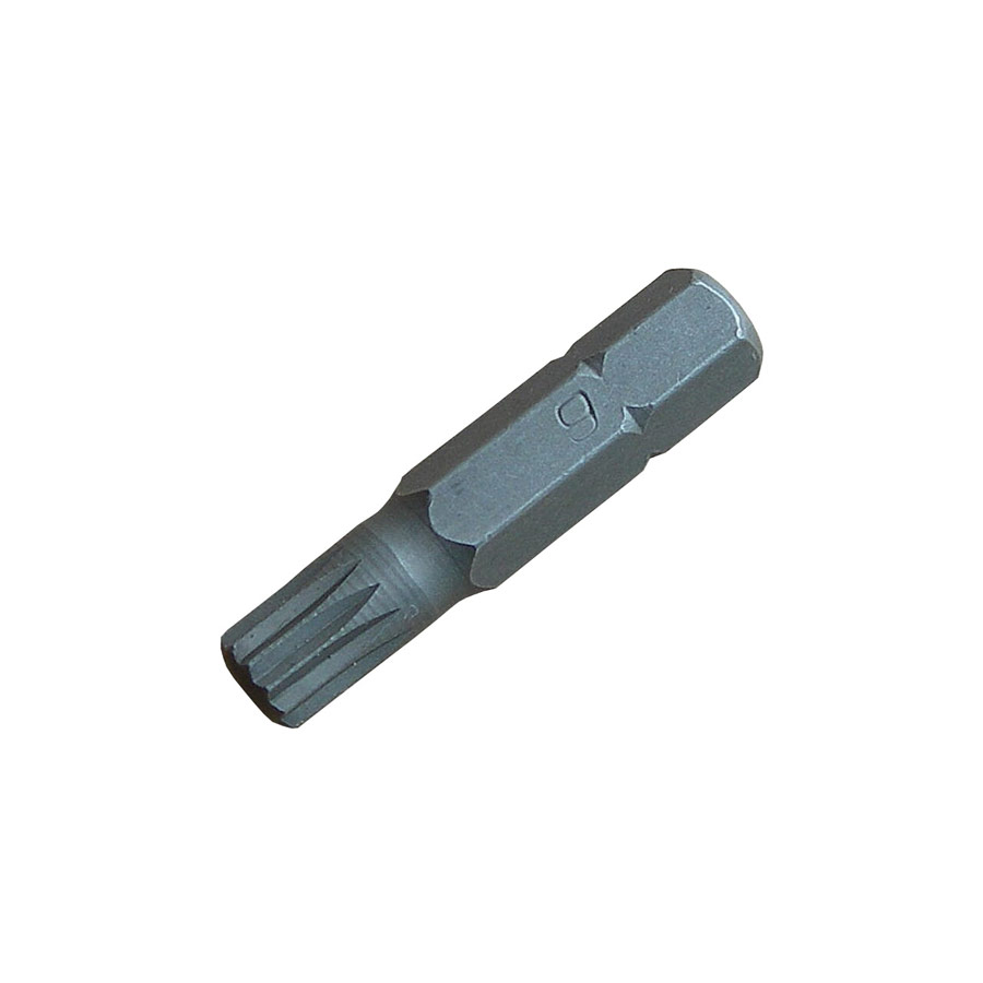 "M6 x 30mm Multi-Spline Screwdriver Bit  (1/4"" / 6.36mm Hexagonal Drive)"