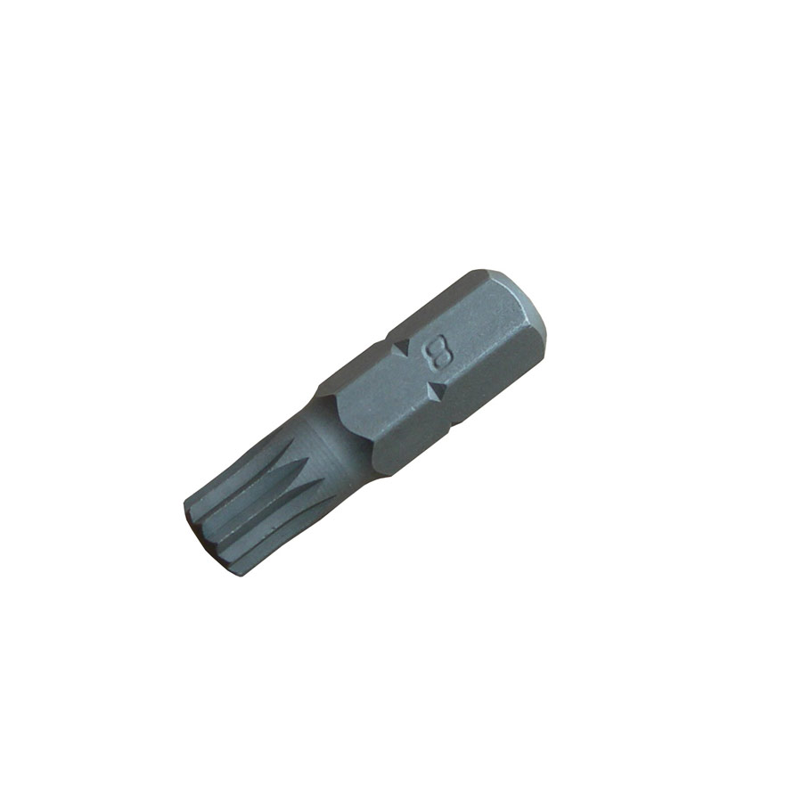 M8 x 30mm Multi-Spline Bit 8mm Drive