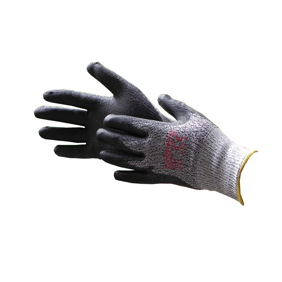 Warrior Black Anticut Level 5 Kevlar Safety Gloves Size 8