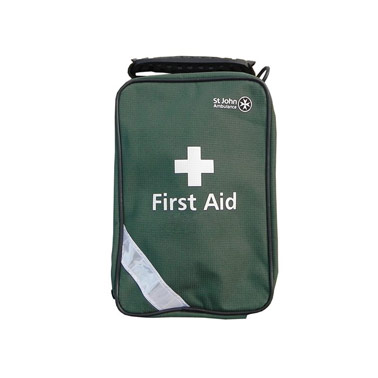 First Aid Kit - St Johns (Green Canvas Bag)