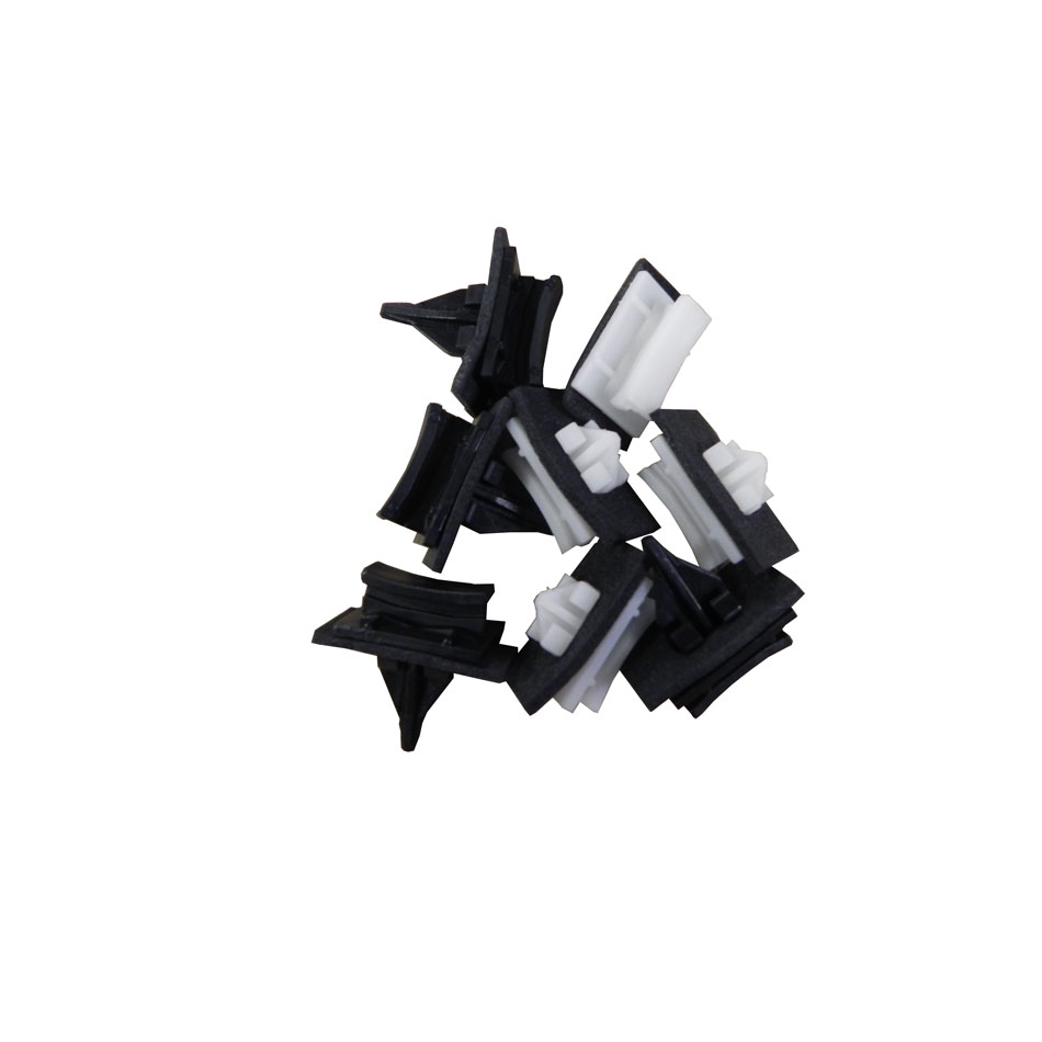 Ford Transit W/S Side Moulding Clips (set of 8 : 4 white/ 4 black)