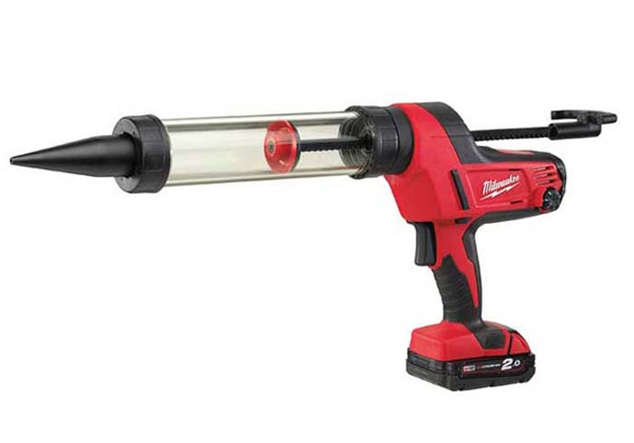 Milwaukee 400ml M18 Caulking Gun (Clear Barrel) 18V