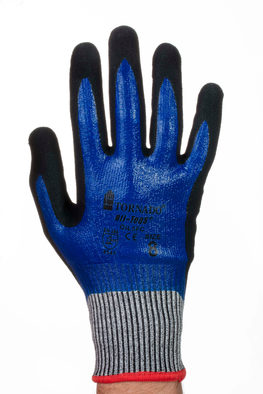 TORNADO Oil-Teq 5  Kevlar Gloves Cut Level 5 - Medium Size: 8 Oil and liquid repellent