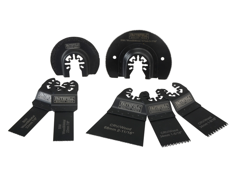 Faithfull Multi-Function Tool Blade Set 7-Pce