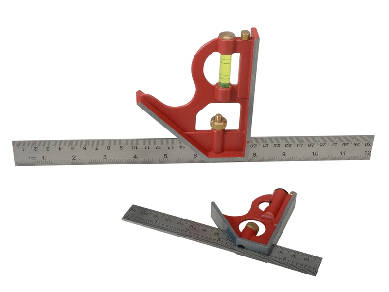 Faithfull Combination Square, Twin Pack