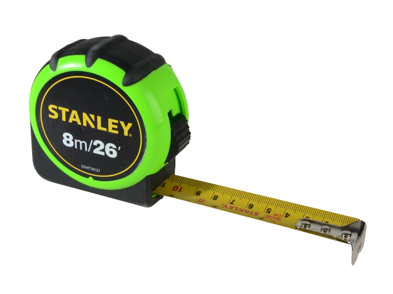 Stanley Hi-Visibility Tape 8M / 26ft